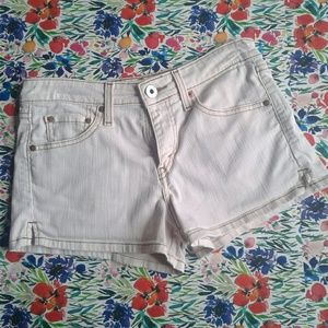 Levi's 518 Super Low Baby Pink Denim Short Shorts